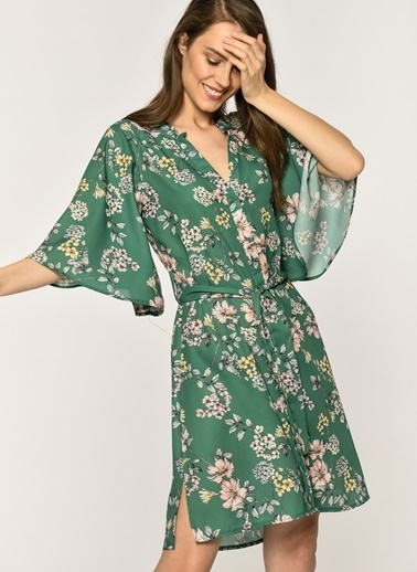 Loves You Elbise Yeşil